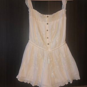 American Eagle Laced Cream Romper
